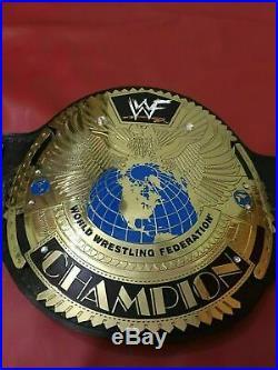 Wwf Big Eagle Scratch Logo Championship Belt In 2mm Brass Plates