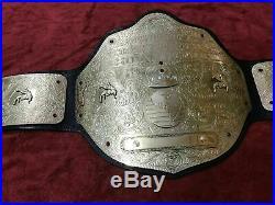 Wwf Big Gold Championship Belt In Brass Plates