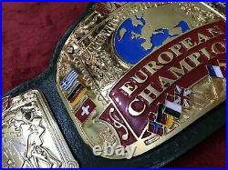 Wwf European Championship Belt In 4mm Zinc Deep Etching & 24kt Gold Plated Free