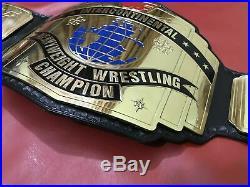 Wwf Intercontinental Red Logo Championship Belt