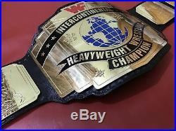 Wwf Intercontinental Red Logo Championship Belt In 4mm Brass Plates