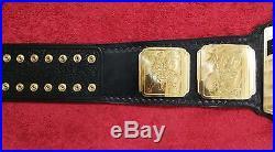 Wwf Intercontinental Red Logo Championship Belt Made In 4mm Brass Plates