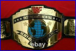 Wwf Intercontinental Red Logo Championship Replica Belt 2mm Brass Adult Size