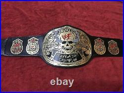 Wwf Stone Cold Smoking Skull Heavyweight Championship Belt In 4mm Brass Plated