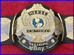 Wwf Winged Eagle Dual Plated Championship Belt In 4mm Thick Brass Plate Free P&p